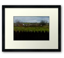 Uzakta Bir Köy Framed Print