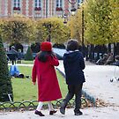 children in Place des Vosges, Paris by BronReid