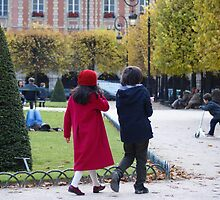 children in Place des Vosges, Paris by BronReid