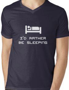 I'd rather be sleeping Mens V-Neck T-Shirt