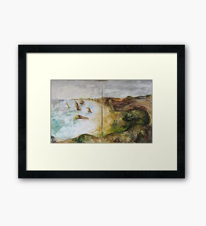 Grate Ocean Road - in winter weather Framed Print