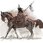 hun horseman brown by David  Kennett