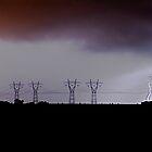Lightning Strike at Lovely Banks by Allen Gray