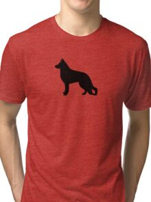 German Shepherd Dog Silhouette Tri-blend T-Shirt