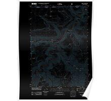 USGS Topo Map Oregon Troy 20110914 TM Inverted Poster