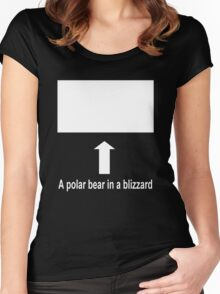 A polar bear in a blizzard Women's Fitted Scoop T-Shirt