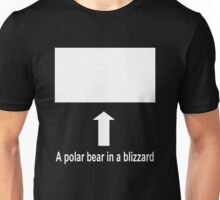 A polar bear in a blizzard Unisex T-Shirt