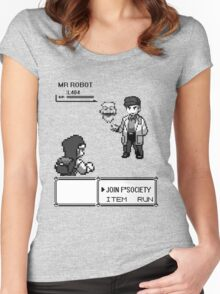 mr robot - pkm Women's Fitted Scoop T-Shirt