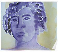 watercolor people - two Poster
