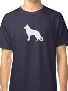 White German Shepherd Dog Silhouette Classic T-Shirt