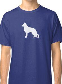 White German Shepherd Dog Silhouette Classic T-Shirt