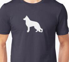 White German Shepherd Dog Silhouette Unisex T-Shirt