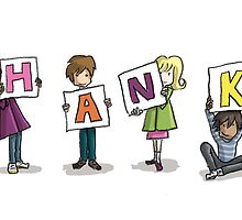 Card Design: Kids: Thanks by Kirsty Mordaunt