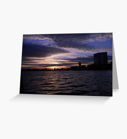 """Harbor Set - Boston Harbor"" Greeting Card"