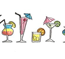 Card: Cocktails by Kirsty Mordaunt
