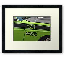 Mean Green  Framed Print