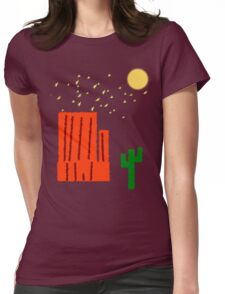 The Desert At Night Womens Fitted T-Shirt