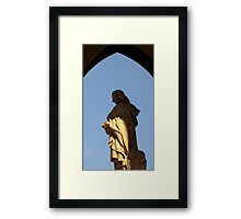 Genius in his hands Framed Print