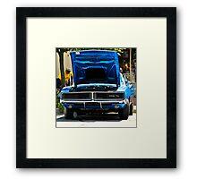 Blue Charger II Framed Print