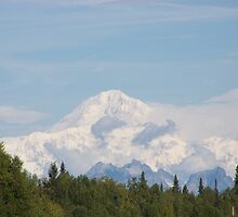 A rare view - Mt. McKinley by bbegnaud