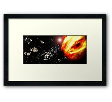 Space frontier Framed Print