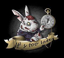 The White Zombie Rabbit by NemiMakeit