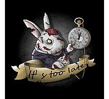 The White Zombie Rabbit Photographic Print