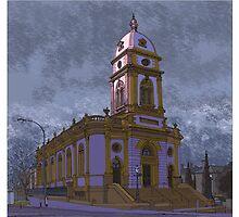 Pink church by David  Kennett