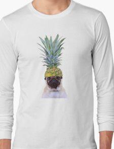 Pug Pineapple Long Sleeve T-Shirt