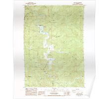 USGS Topo Map Oregon Loon Lake 280582 1985 24000 Poster