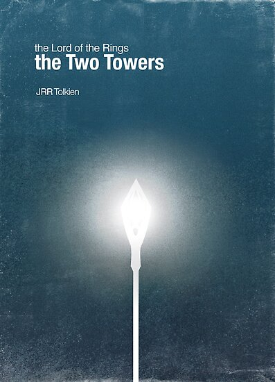 """The Two Towers"" - minimalist poster design by J PH"
