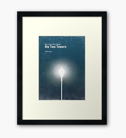 """""""The Two Towers"""" - minimalist poster design Framed Print"""