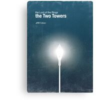 """The Two Towers"" - minimalist poster design Canvas Print"