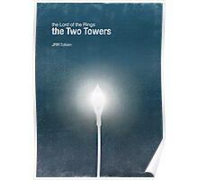 """The Two Towers"" - minimalist poster design Poster"