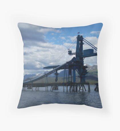 Loading dock Throw Pillow