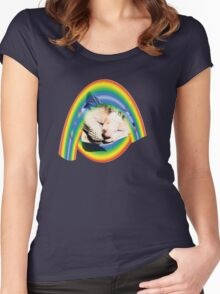 Sleeping on a rainbow Women's Fitted Scoop T-Shirt