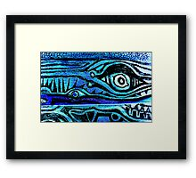 I see another blue day Framed Print