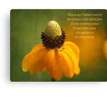 Religous Nature Photo Coneflower Canvas Print
