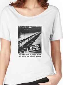 Wood Gets 'Em Over -- WWII Women's Relaxed Fit T-Shirt