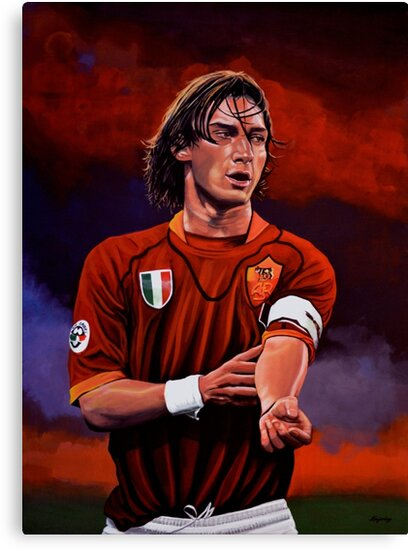 Francesco Totti painting