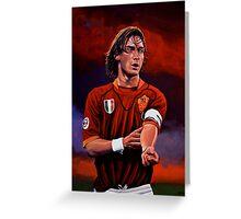 Francesco Totti painting Greeting Card