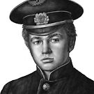 Portrait of a young Soviet pilot by Artemiy Bogdanoff