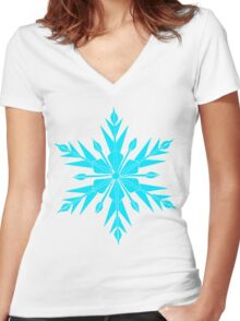 Frozen Fractals Women's Fitted V-Neck T-Shirt