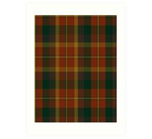 00347 Monaghan County District Tartan Art Print