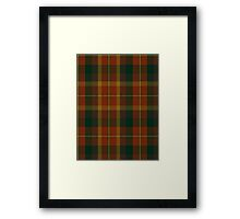 00347 Monaghan County District Tartan Framed Print