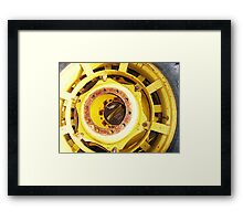 rotting wheel  Framed Print