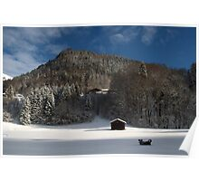 I love winter - Montriond, Alps Poster