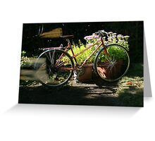 Bicycle in Shadows Greeting Card