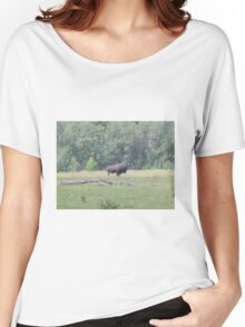 Bison 2, Elk Lake, Alberta, Canada Women's Relaxed Fit T-Shirt