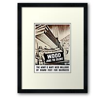 Wood Joins The Colors -- Army WWII Framed Print